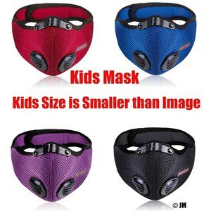 4 Pcs Kids Outdoor Face Mask with Filter